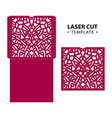 laser cut envelope card temlate with vector image vector image