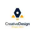 letter a rocket future creative business logo vector image vector image