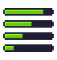 loading progress bar pixel art cartoon retro game vector image vector image
