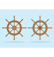Marine helm Two styles of steering wheel isolated vector image