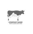 Night Cow Logo Icon vector image vector image
