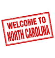 North Carolina red square grunge welcome isolated vector image vector image