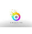 o rainbow dots letter logo letter design with vector image vector image