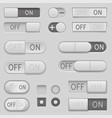 on and off toggle switch slider buttons interface vector image vector image