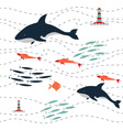 pattern killer sea vector image