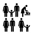 People family sign vector image vector image