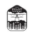 pilot training academy emblem logo template vector image