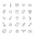 Pregnancy and motherhood line icons set vector image vector image