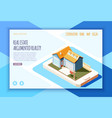 real estate augmented reality isometric vector image