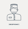 receptionist outline icon vector image