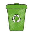 recycle bin isolated icon vector image vector image