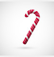 red and white chrisrmas candy realistic sweet vector image vector image