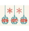 retro Happy New Year 2016-2017-2018 design vector image