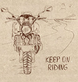 Retro sketch with motorbike vector image vector image