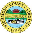 Richmond County Seal vector image vector image