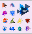sacred geometry triangle abstract logo figures vector image vector image