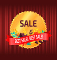 sale best discount and offer banner red curtain vector image