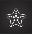 sea star on black background vector image