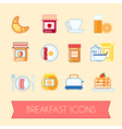 Set of breakfast icons vector image vector image