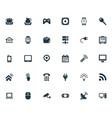 set of simple internet icons elements desktop