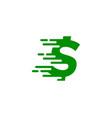 speed money logo icon design vector image
