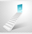 stairway with open door heaven ladder staircase vector image vector image