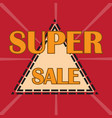 super sale background vector image vector image