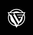 Te logo with negative space triangle shape