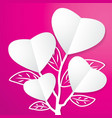 tree of Paper Heart vector image vector image