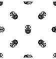 tribal mask pattern seamless black vector image vector image