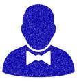 waiter icon grunge watermark vector image vector image