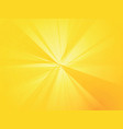 yellow rays background vector image vector image