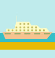 cruise ship ocean liner in water and sky vector image