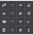 black coffe icons set vector image