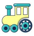 children train for walks icon cartoon style vector image
