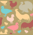 seamless pattern with farm birds vector image
