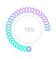 75 percent business pie chart infographic vector image vector image