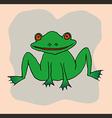 A drawing of a frog vector image vector image