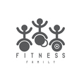 abstract sport and fitness persons design template vector image vector image