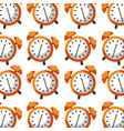 Alarm clock time seamless pattern design vector image
