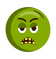 angry injured emoji icon vector image