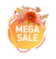 autumn special offer tag thanksgiving sale banner vector image