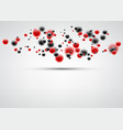 background with red and black bubbles vector image vector image