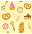 Bakery Flat Seamless Pattern vector image vector image