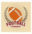 Ball of american football design vector image vector image