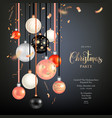 beautiful christmas gold balls vector image vector image