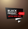 black friday sale in origami style vector image vector image
