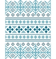 Blue Snowflakes seamless pixel pattern vector image