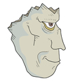 Broken zombie face vector image vector image