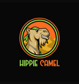 camel hippie vector image